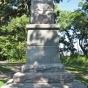 """Face of the """"Faithful Indians"""" monument"""