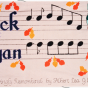 Color image of a quilt panel memorializing Chuck and Bryan, 1988.