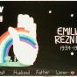 Color image of a quilt panel memorializing Emilian Reznicek, 1988.