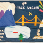 Color image of a quilt panel memorializing Jack Wagner, 1988.