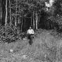 Ojibwe man on Grand Portage trail