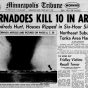 Front page of the <em>Minneapolis Tribune</em>, May 7, 1965