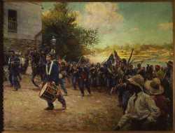 Third Minnesota Volunteer Infantry Entering Little Rock