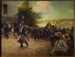 Third Minnesota Volunteer Infantry Entering Little Rock