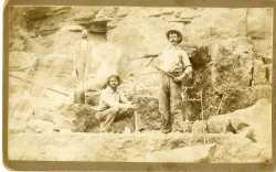 photograph of quarry workers