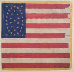 Color image of Eleventh Minnesota national battle flag.