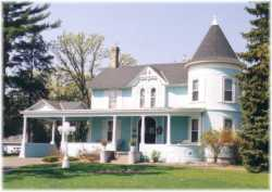 The Ticknor House, which has been the Ticknor Hill Bed & Breakfast since 1996. This front façade has remained largely unchanged since the 1901 renovations to the home by the Ticknor family. Photographer and date unknown, but post-1996. Anoka County Historical Society, object ID# 3000.5.15.
