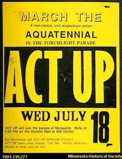 ACT UP handbill