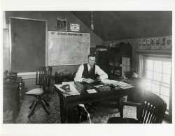 John S. Campbell at his desk in Owatonna, ca. 1920. Used with the permission of Northfield Historical Society.
