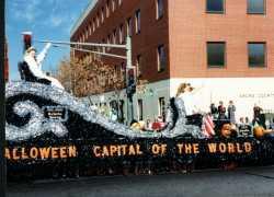 Anoka Halloween Celebration kids' parade, 1990, Minnesota