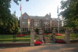 Front view of the governor's residence