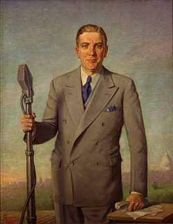 Floyd Olson's official gubernatorial portrait, 1937.