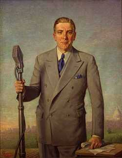 Floyd Olson's official gubernatorial portrait, 1937.
