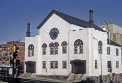 Color photograph of the exterior of Adas Israel Congregation in Duluth. Photographed by Phillip Prowse c.2010.
