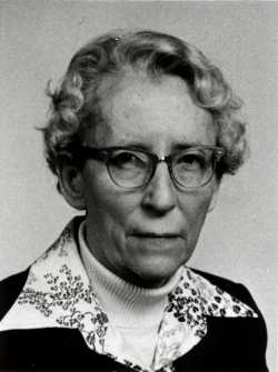 Black and white photograph of Agnes Keenan, c.1975. From the Agnes Keenan Collection. St. Catherine University Archives, St. Paul.