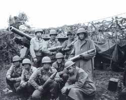 First Section of Battery B, 151st Field Artillery Battalion