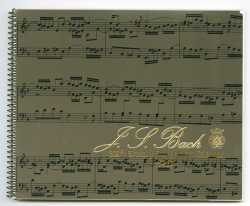 Scan of the cover of a 1985 calendar commemorating the 300th birthday of J. S. Bach