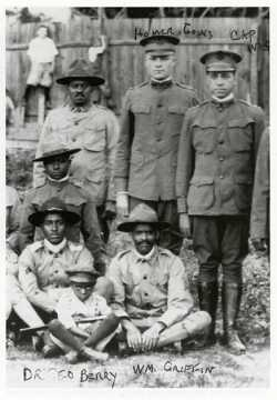 Black and white photograph of embers of Company A, Sixteenth Battalion of the Minnesota Home Guard, c.1918.