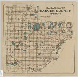 Standard map of Carver County, Minnesota. St. Paul : Minnesota Map Publishing Co., 1913.