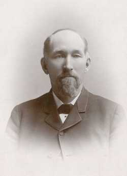 Black and white photograph of Solomon Comstock, ca 1890.