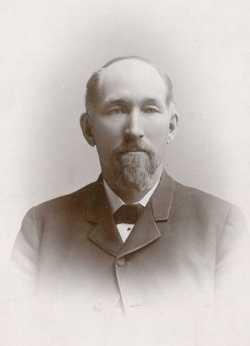 Black and white photograph of Solomon Comstock, ca 1890.