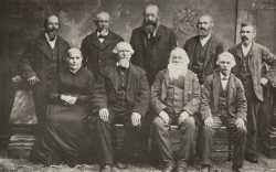 Black and white photograph of the founders of New Ulm, ca. 1854.
