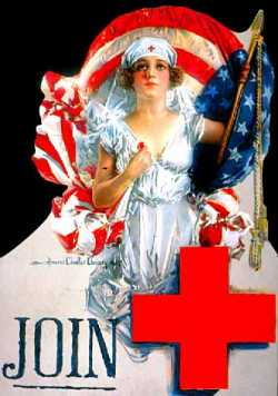 Color image of a World War I-era Red Cross poster, c.1917.