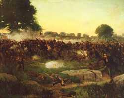 Battle of Gettysburg oil painting by Rufus Zogbaum