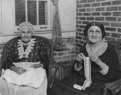 Black and white photograph of women in the Jewish Home for the Aged, St. Paul, 1925.