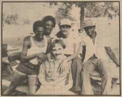 Stephen Kulieke (center bottom) with Cuban refugees