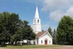 Color image of Old Westbrook Church, 2017. Photograph by Dave Van Loh.