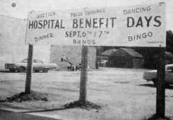 Sign advertising Westbrook Hospital Days