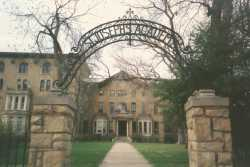 Color image of the main entrance to St. Joseph's Academy, c.2001.