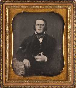 Joseph Rolette as a young businessman and trader, c.1841.