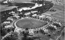 Aerial view of Anoka State Hospital, 1937.
