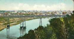 Tinted color postcard of High bridge c.1905.