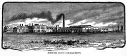 Engraving of the Como Shops published in Northwest magazine (April 1886, page 12).