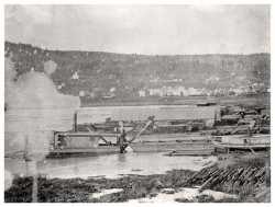 Duluth ship canal being dug