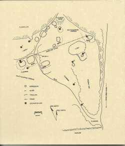 Site map of Little Round Hill, 1992.