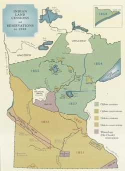 Indian Land Cessions and Reservations to 1858