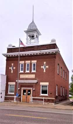 Exterior of Nerstrand City Hall. Photograph by Jeff M. Sauve, May 2019. Used with the permission of Jeff M. Sauve.