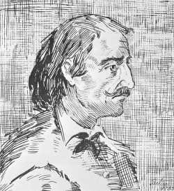 Sketch of Pierre-Esprit Radisson, undated.