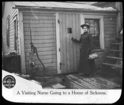 Nurse visiting a home