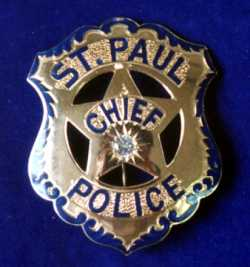 Photograph of John J. O'Connor's chief-of-police badge