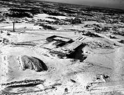 Aerial, Southdale under construction, Edina.