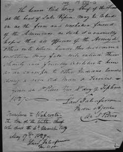 "Hand written document recognizing ""Wahcoota"" as Tatanka Mani's successor, May 17, 1829."
