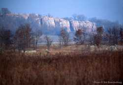 Color image of a Bison jump site at Blue Mounds State Park, 1995.