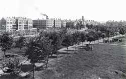 Black and white photograph of Rochester State Hospital.