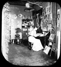 Henrietta Barclay Paist in her studio, Minneapolis