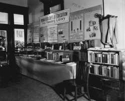 Minnesota Department of Education exhibit for free traveling library